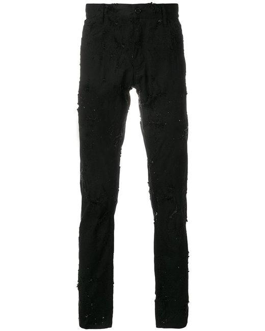 distressed skinny jeans - Black Ann Demeulemeester pPHLjIf