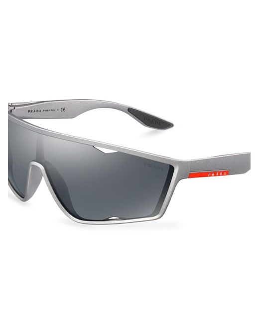 d07f10e6216 ... Prada - Gray Mirrored Sunglasses for Men - Lyst