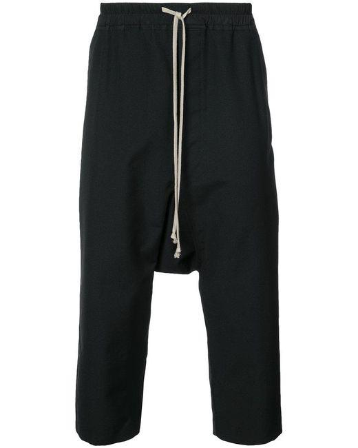 Rick Owens | Black Drawstring Drop-crotch Trousers for Men | Lyst