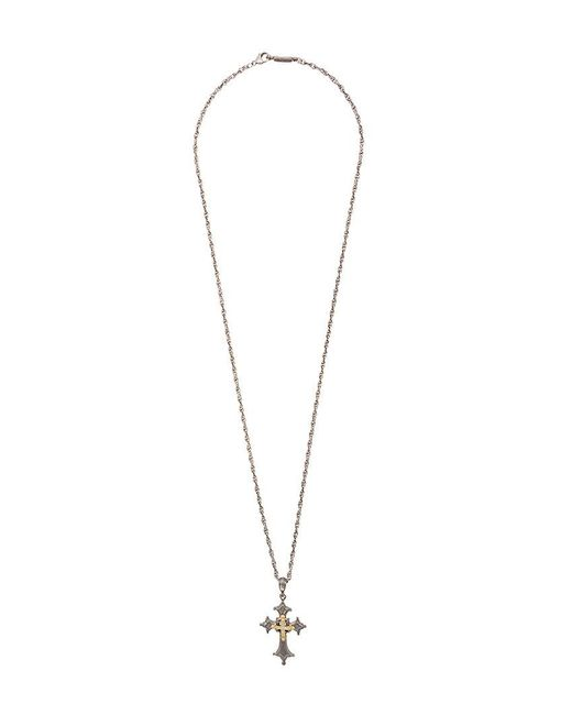 Roman Paul - Metallic Cross Necklace for Men - Lyst