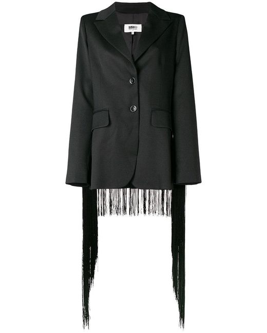 Mm6 Maison Margiela fringed trim blazer Countdown Package Free Shipping Exclusive Discount 2018 Get Authentic Online Outlet Discount Sale 3W87K