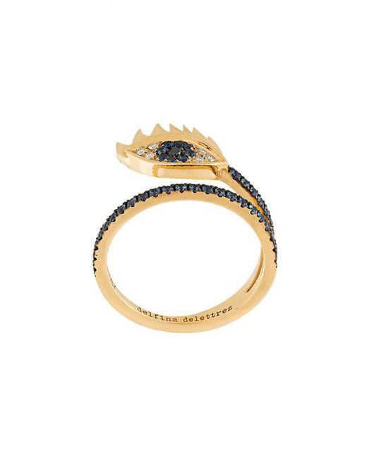 Delfina Delettrez - Metallic Embellished Eye Ring - Lyst