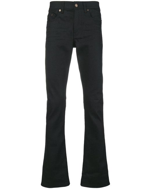 Saint Laurent - Black Mid-rise Bootleg Jeans for Men - Lyst