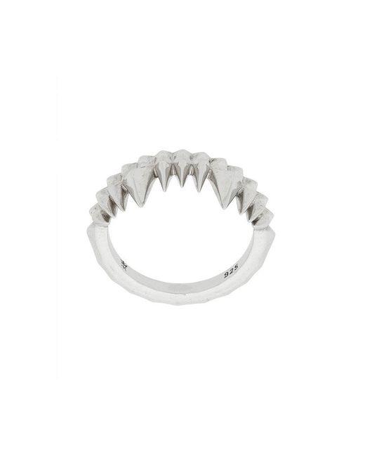 Kasun - Metallic Crocodile Bite Ring - Lyst