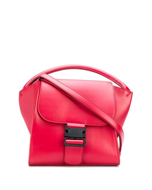 Zucca Red Broad Handle Bag