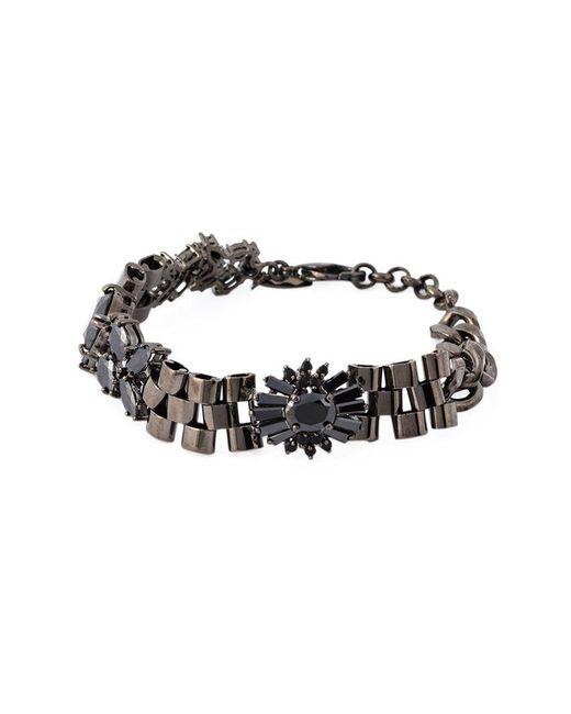 Iosselliani - Metallic 'black On Black Memento' Bracelet - Lyst