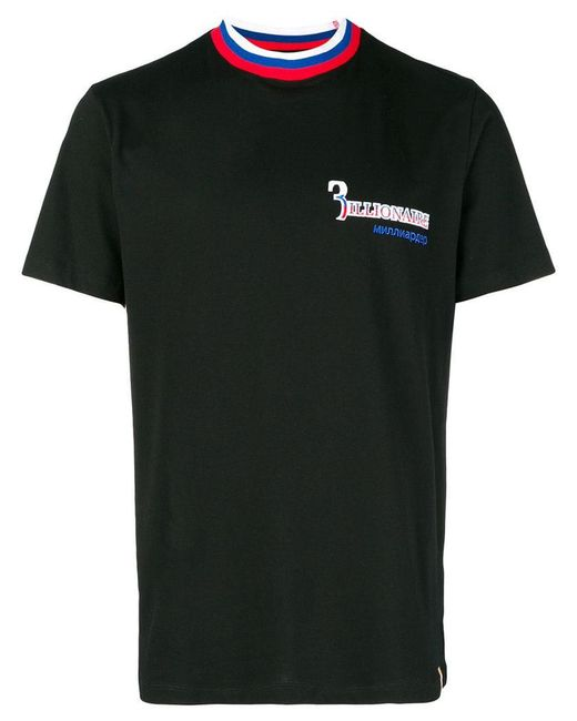 Billionaire - Black 'moscow' Lettering T-shirt for Men - Lyst