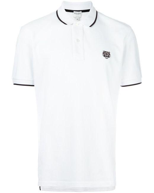 KENZO | White Mini Tiger Polo Shirt for Men | Lyst