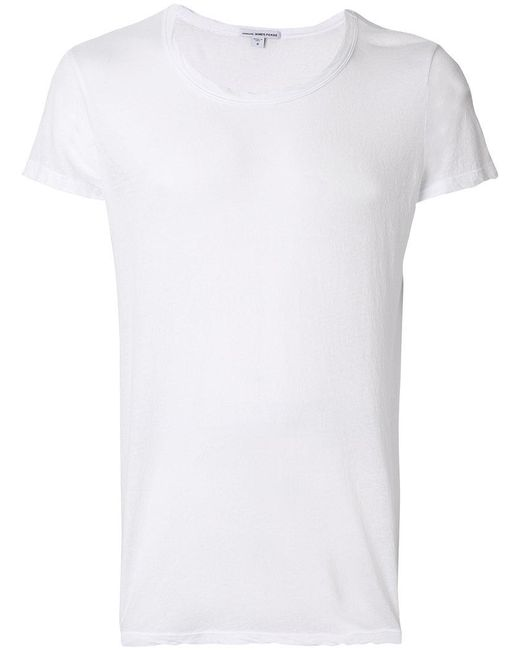 James Perse - White Round Neck T-shirt for Men - Lyst
