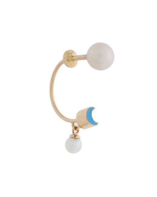 Delfina Delettrez - Metallic Moon Piercing Earring - Lyst