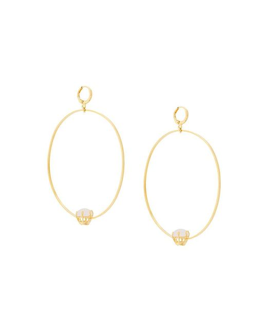 Iosselliani - Metallic Puro Reversed Hoop Earrings - Lyst
