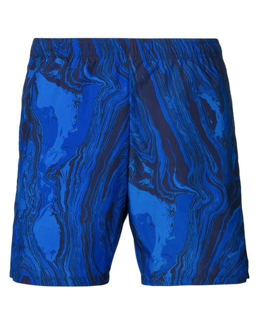 La Perla - Blue Plain Swim Shorts for Men - Lyst