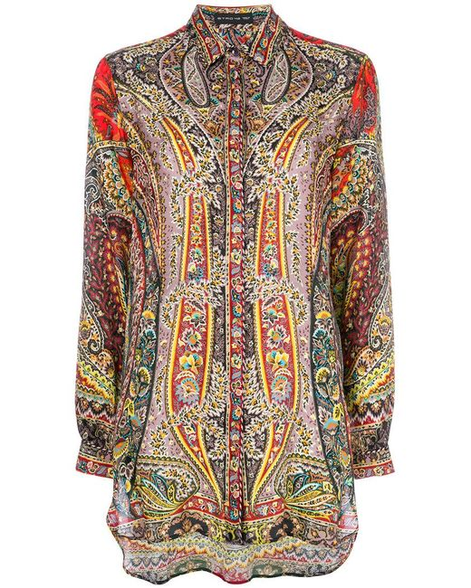 c1667130af6cfe Etro - Multicolor Mixed Paisley Print Shirt - Lyst ...