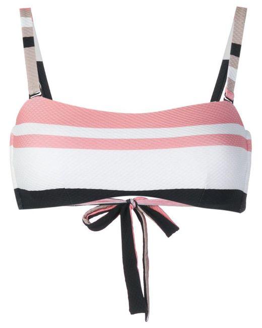 Asceno - Multicolor Bold Stripe Wrap Bikini Bandeau - Lyst