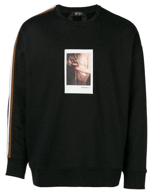 N°21 - Black Sweatshirt mit Print for Men - Lyst