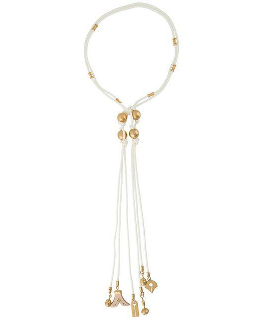 Chloé - White Janis Tie Necklace - Lyst