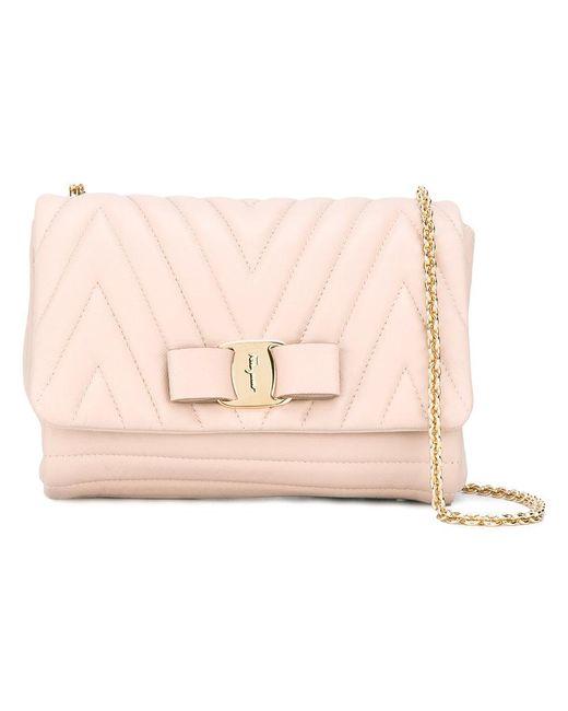 Ferragamo | Multicolor Bow Shoulder Bag | Lyst