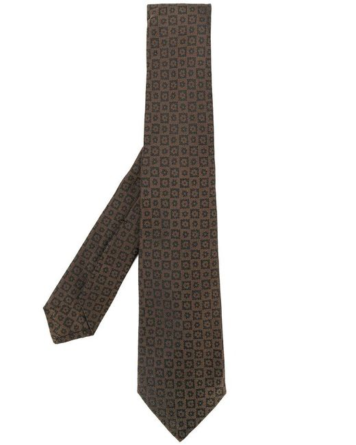 Lyst kiton floral embroidered tie in brown for men