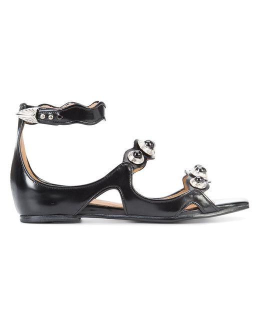 Toga Pulla   Black Polido Sandals   Lyst