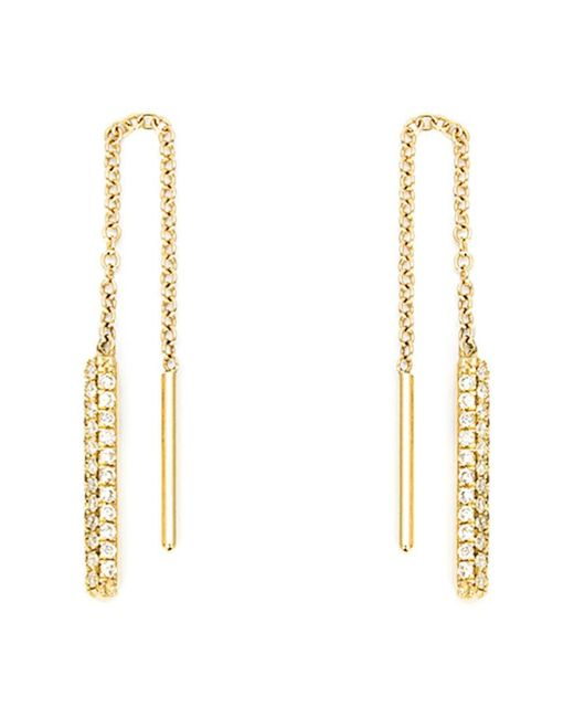 Ileana Makri - Metallic Diamond Drop Chain Earrings - Lyst