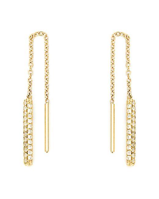 Ileana Makri | Metallic Diamond Drop Chain Earrings | Lyst