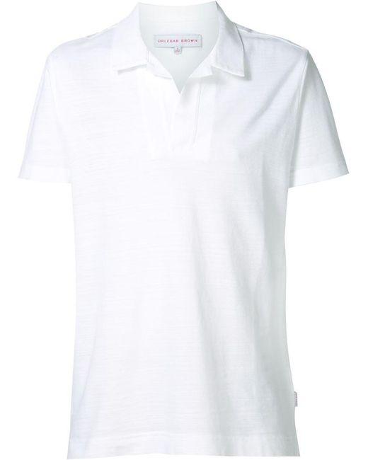 Orlebar Brown - White 'the Felix' Polo Shirt for Men - Lyst