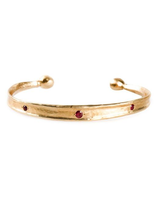Roman Paul | Red Ruby Studded Bangle for Men | Lyst