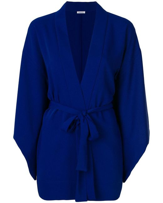 P.A.R.O.S.H. - Blue Belted Kimono Jacket - Lyst