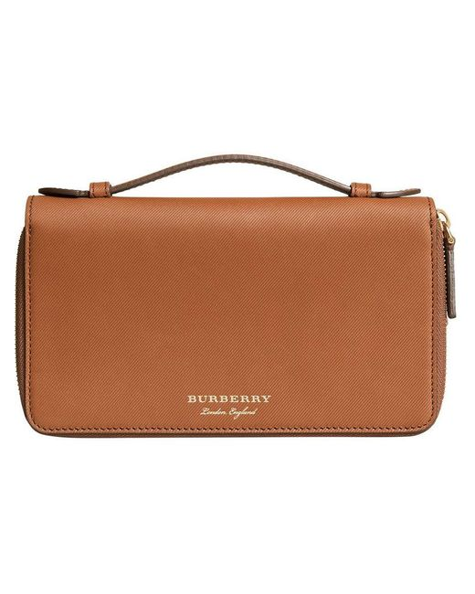 Burberry - Brown Travel Wallet - Lyst