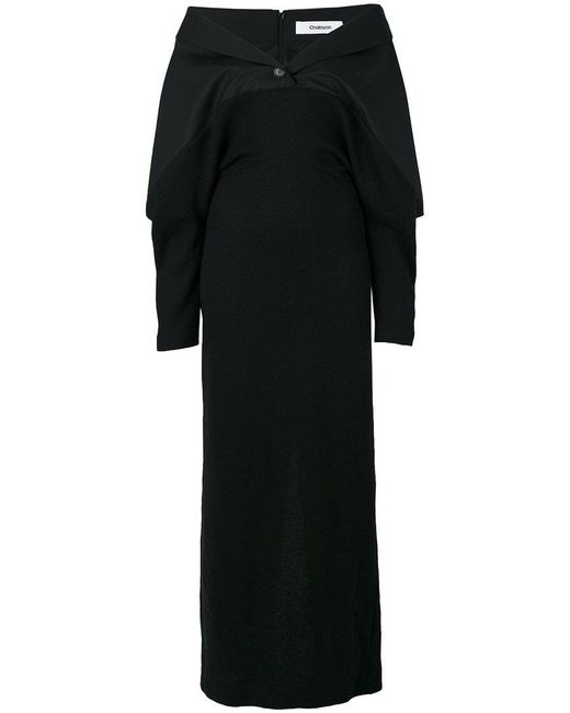 Chalayan - Black Off The Shoulder Dress - Lyst