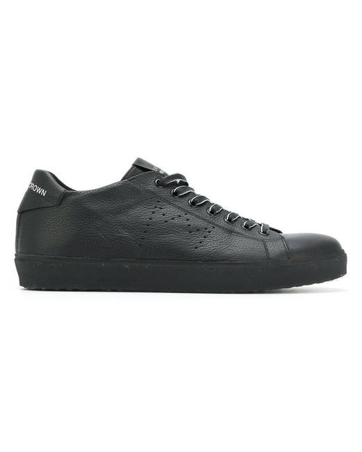 Leather Crown | Black Miconic Sneakers for Men | Lyst