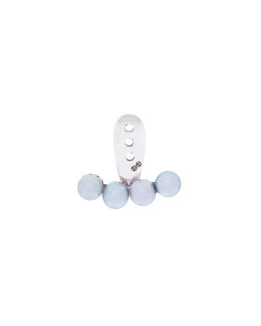 Yvonne Léon - Metallic 4 Petit Grey Pearls Ear Jacket - Lyst