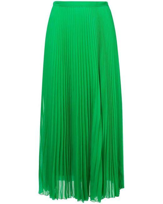 ee8b3846f Falda midi plisada de mujer de color verde