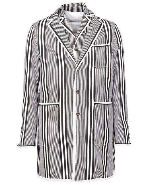 Moncler Gamme Bleu | Gray Striped Short Coat for Men | Lyst
