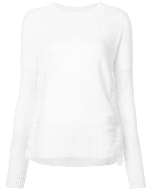 10 Crosby Derek Lam - White Crewneck Sweatshirt - Lyst