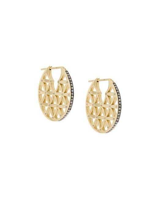 Noor Fares - Metallic Flower Of Life Chandbali Earrings - Lyst