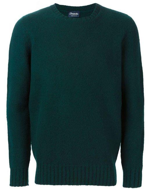Drumohr - Green Crew Neck Sweater for Men - Lyst