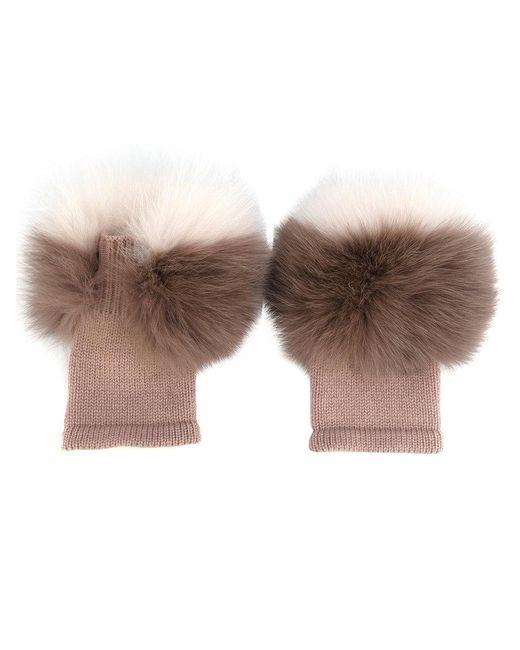 Agnona - Pink Fluffy Gloves - Lyst