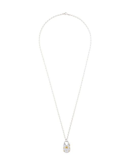 True Rocks - Metallic Lock Pendant Necklace for Men - Lyst
