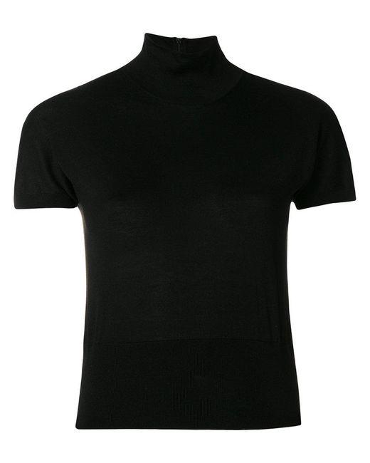 Dolce & Gabbana - Black Short Sleeved Turtleneck Top - Lyst