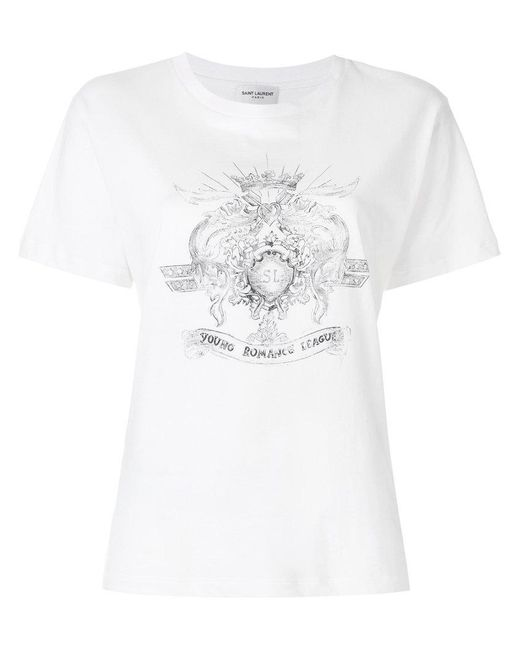 Saint Laurent - White Young Romance League T-shirt - Lyst