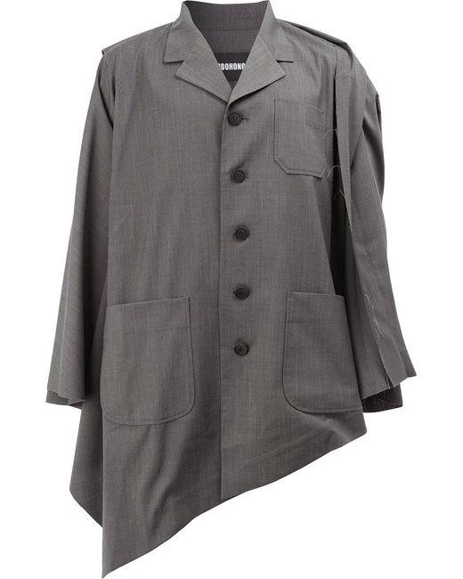 Moohong | Gray Asymmetric Hem Jacket for Men | Lyst