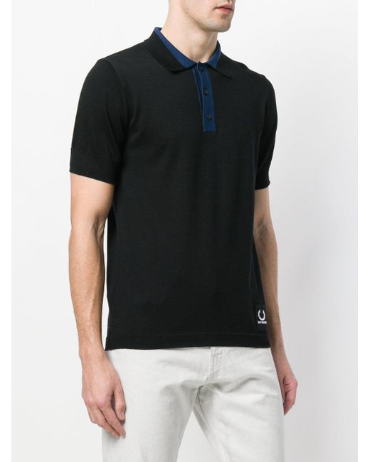 8713632e713 ... Fred Perry - Black X Raf Simons Knitted Sport Polo Shirt for Men - Lyst  ...