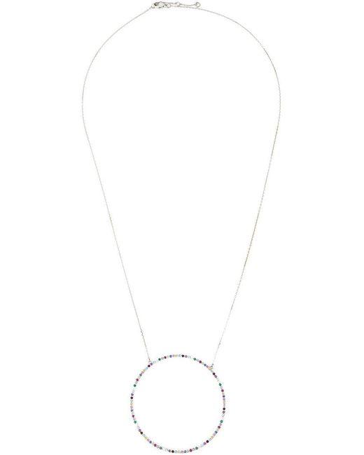 Eshvi - Metallic 18kt White Gold Gemstone Necklace - Lyst
