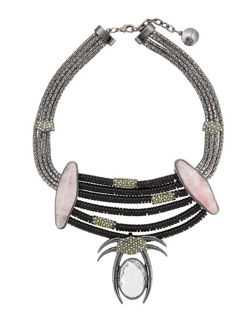 Camila Klein - Metallic Millipede Necklace - Lyst