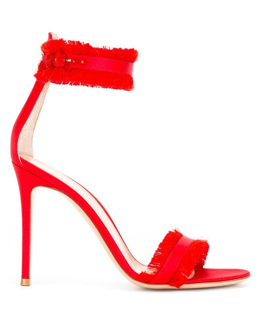 Gianvito Rossi | Red Caribe 10.5 Sandals | Lyst