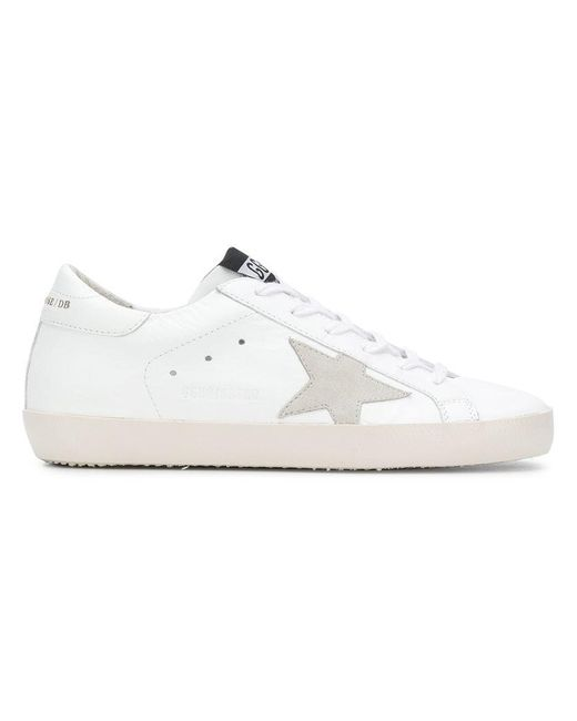 Golden Goose Deluxe Brand - White Side Star Lace Up Sneakers - Lyst