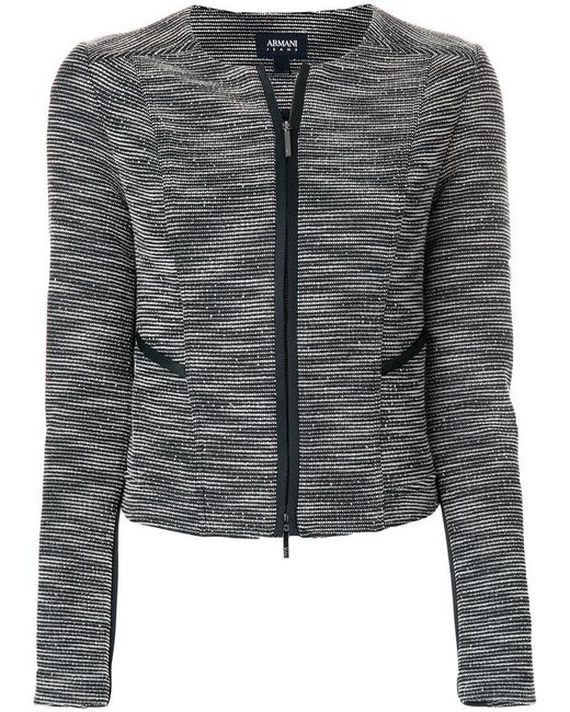 Armani Jeans | Blue Fitted Jacket | Lyst
