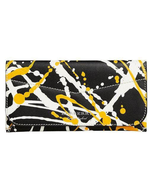 Burberry - Black Splash Envelope Wallet - Lyst