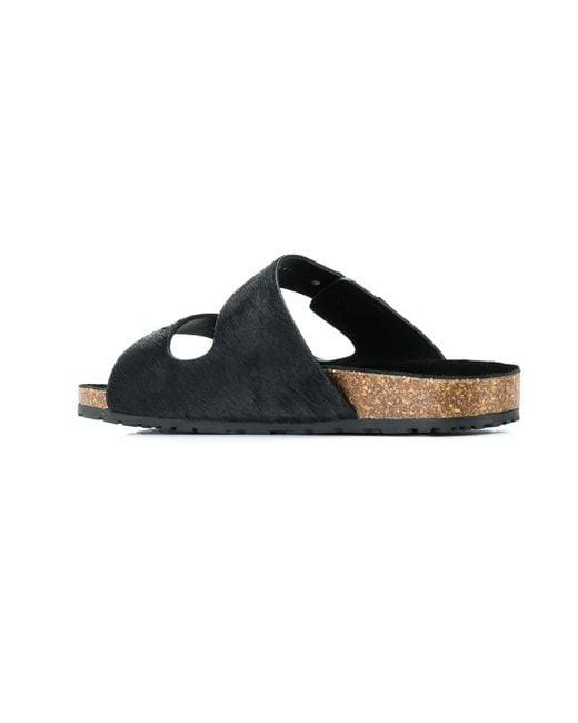 4d7654006ab8 ... Saint Laurent - Black Slip-on Sandals for Men - Lyst ...